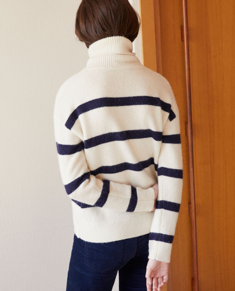 Pull col roulé Off white/peacoat Garin