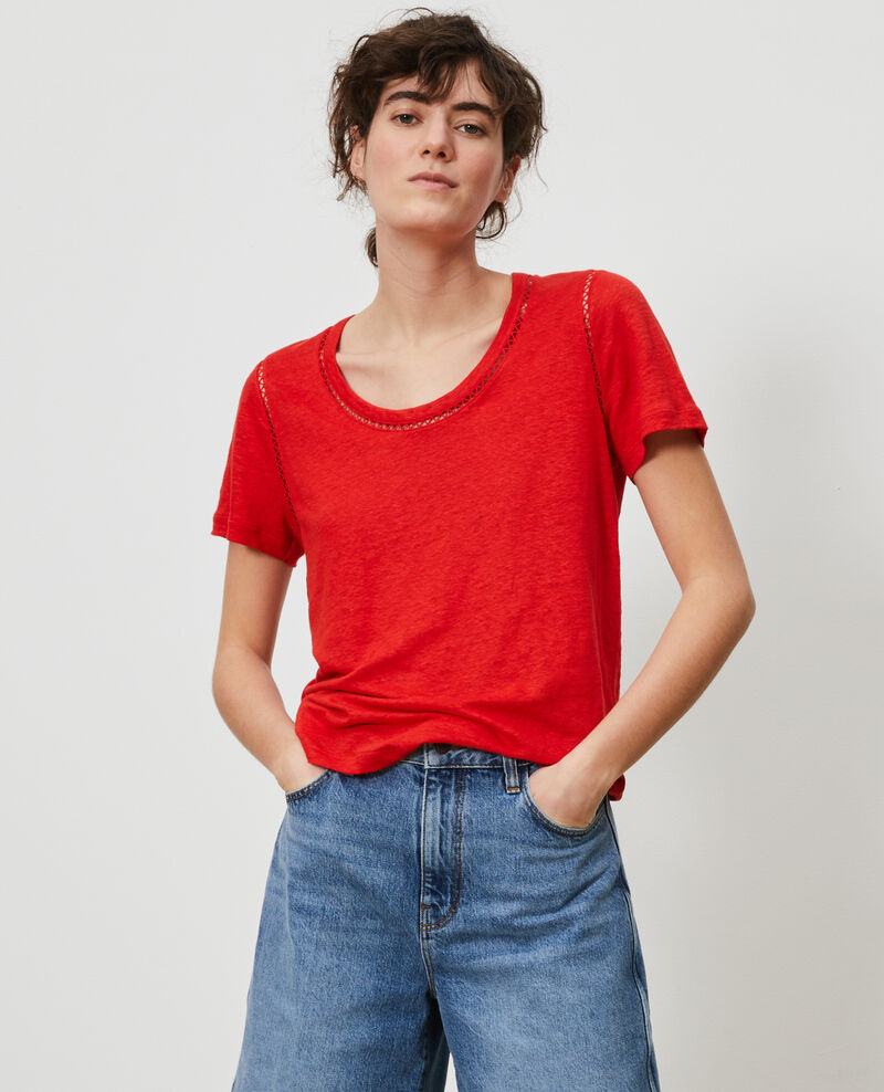 T-shirt en lin Fiery red Lye