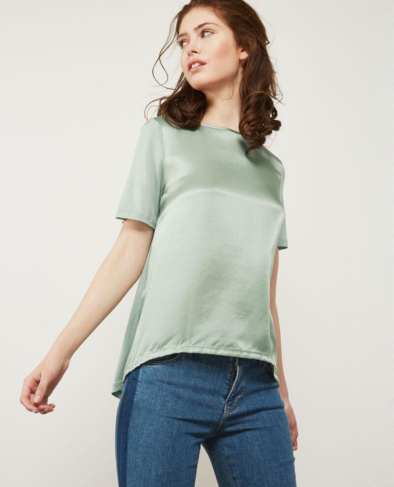 T-shirt bi-matière avec soie Frost Dupalais