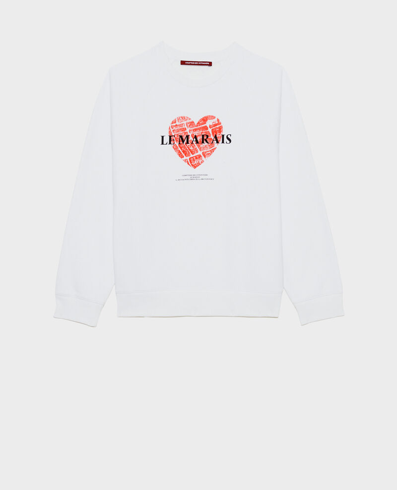 Sweatshirt en molleton Brilliant white Madeleina