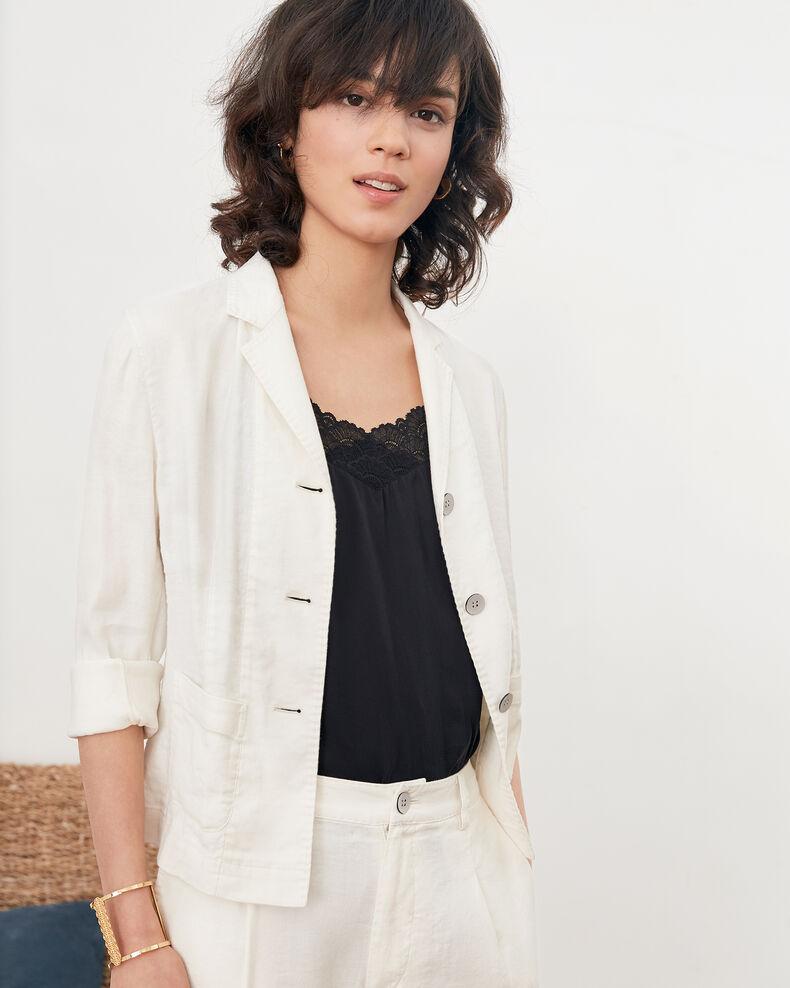 Veste de tailleur avec lin Kaolin Finneley