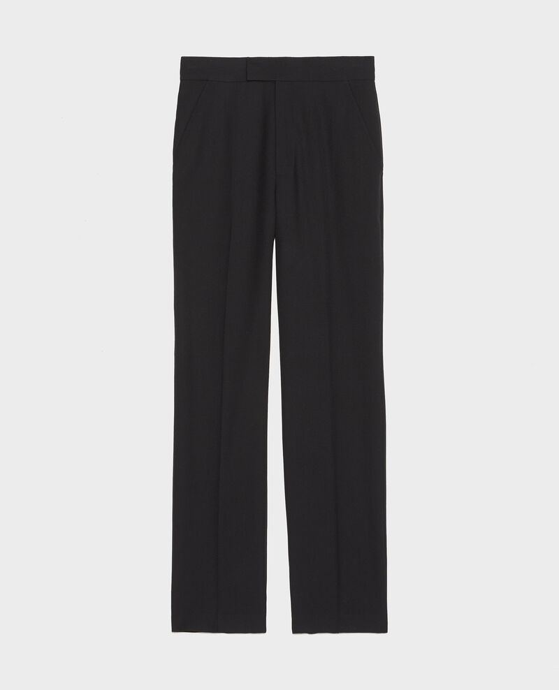 Pantalon MARCELLE, droit en laine masculin Black beauty Lisabelle