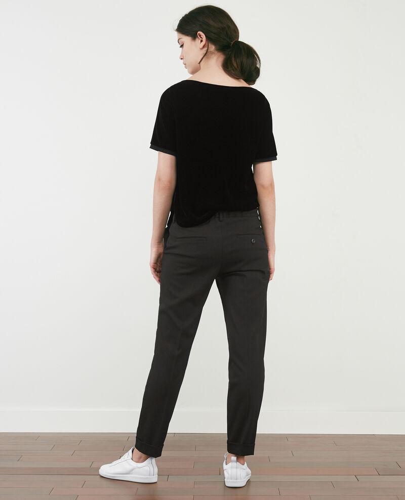 Pantalon fluide à pinces Noir Dokyo