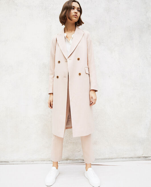 Manteau léger long Beige