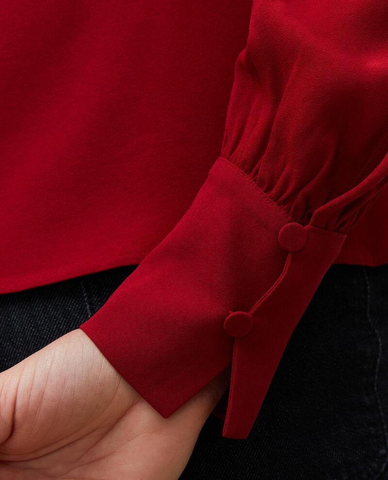 Blouse cintrée col V Royale red Marguerin