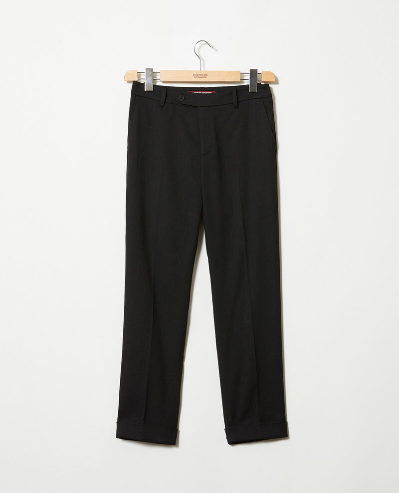 Pantalon coupe carotte Noir Jokyo