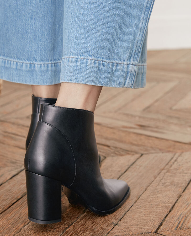 Bottines en cuir Noir Favori