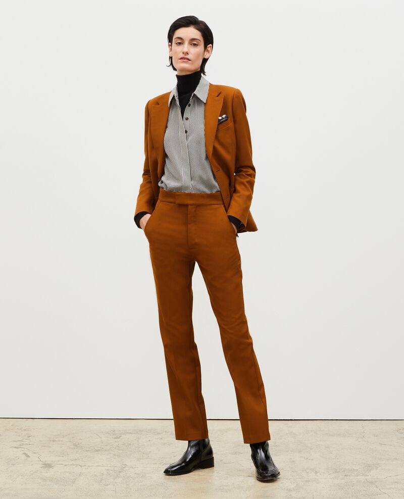 Pantalon droit en laine sèche Monks robe Lisabelle