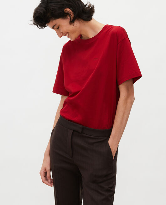 T-shirt en coton manches courtes ample ROYALE RED