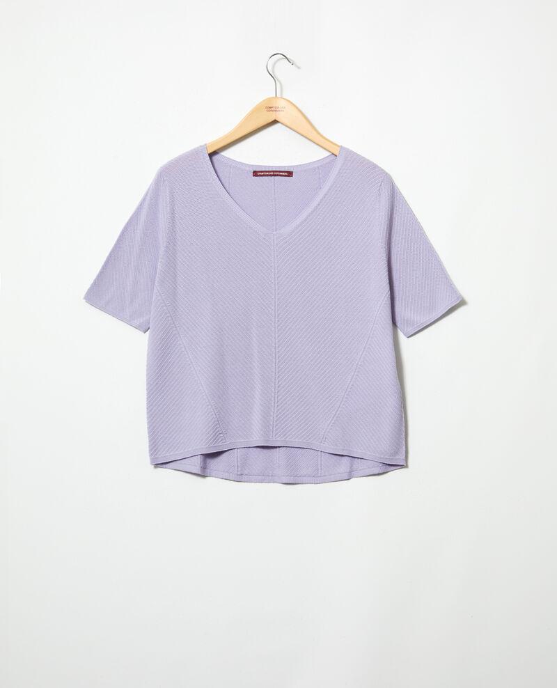 Pull en coton 3D Purple Irankana