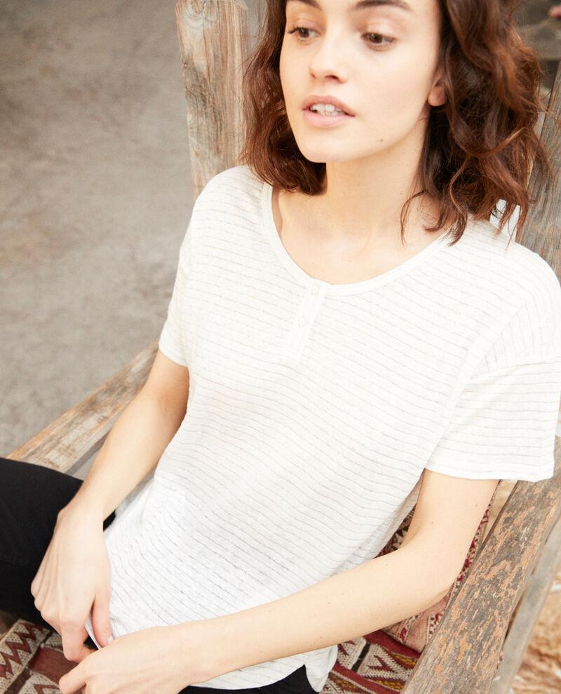 T-shirt brillant avec du lin Off white Imape