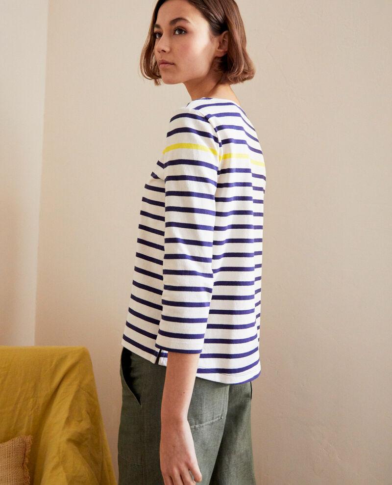 T-shirt marinière Bleu marine Isteria