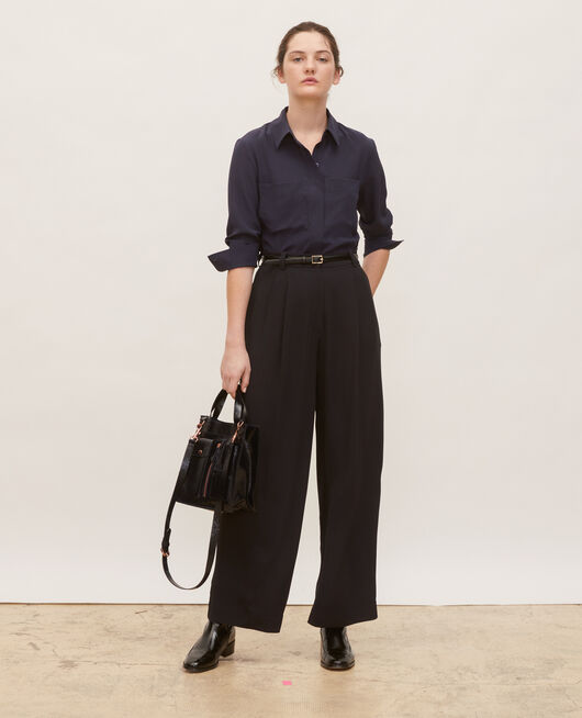 Pantalon large taille haute BLACK BEAUTY
