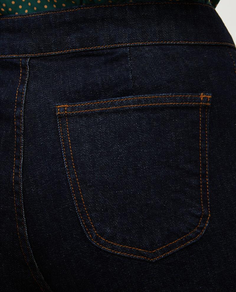 CHINO - Pantalon carotte en denim taille haute Denim rinse Muzol