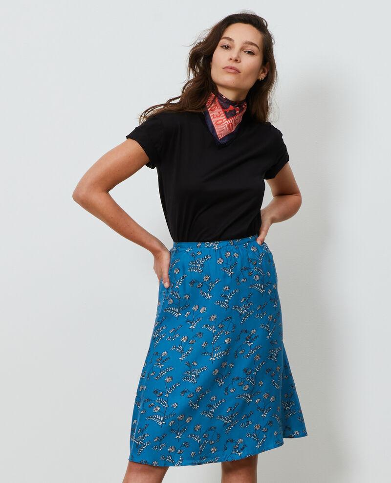 Jupe taille haute en soie Coronille faience Noimise