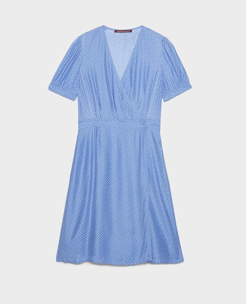 Robe portefeuille en soie Memphis persian jewel Leanie