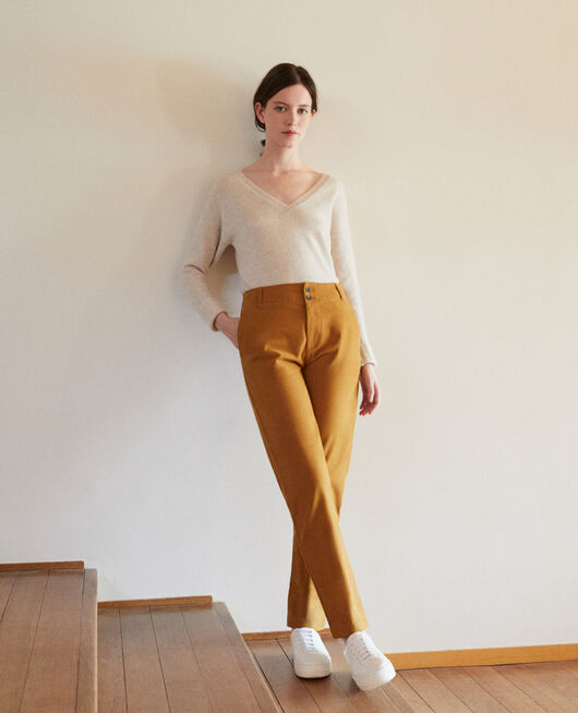 Pantalon chino GOLDEN BROWN