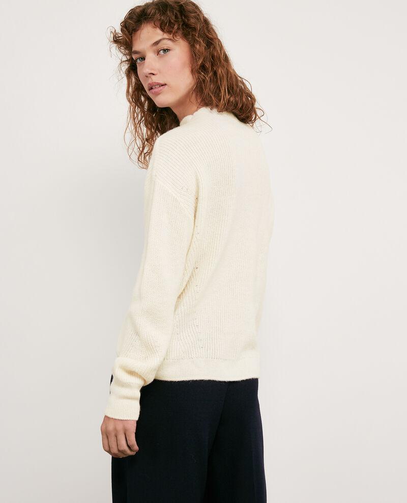 Pull avec laine et alpaga Off white Damelila