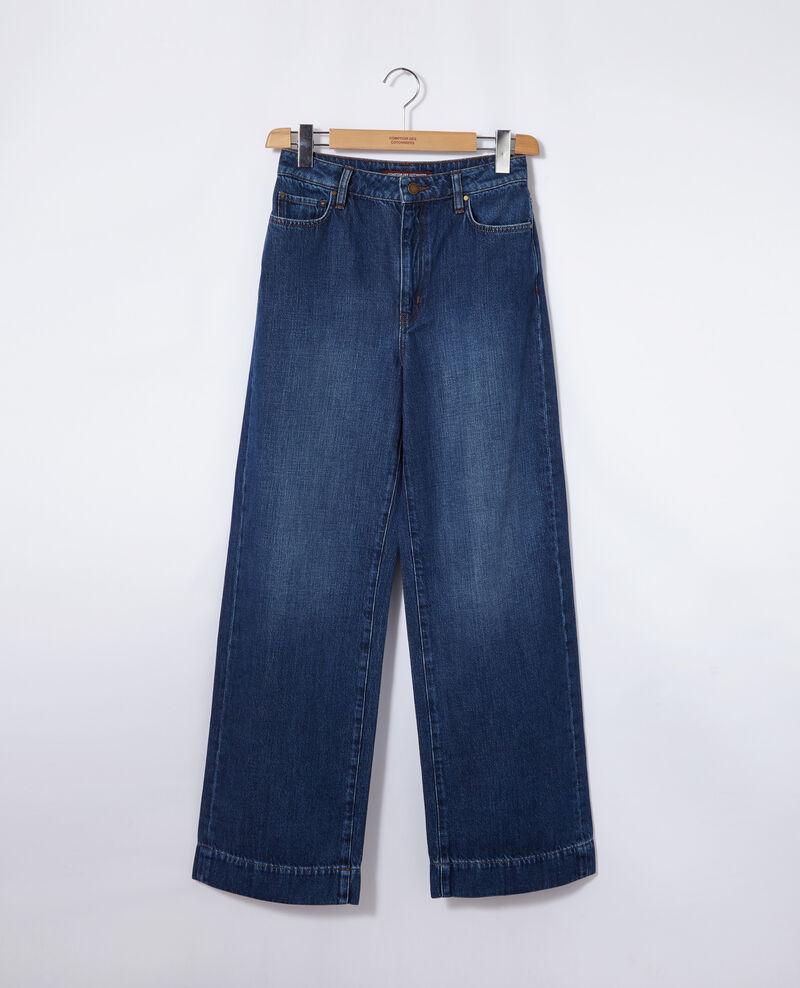 Jean coupe wide full length Bleu Guya