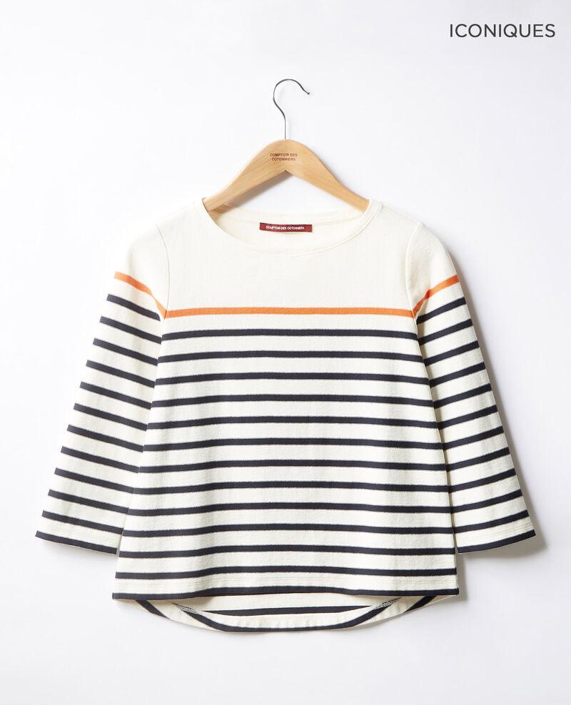 T-shirt marinière Kaolin/navy Faustus
