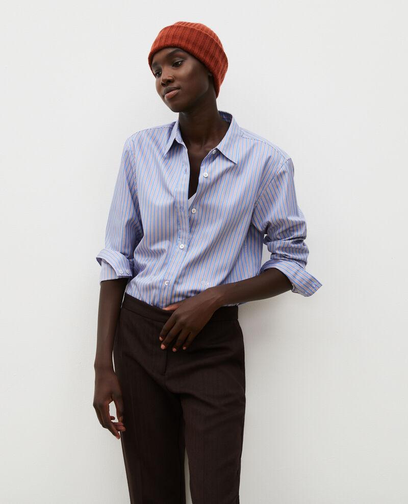 Chemise d'homme en coton Supima Stripe2 blue Myndo