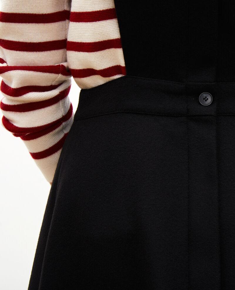 Robe chasuble en laine Black beauty Mantilly