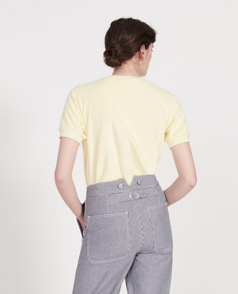 T-shirt en éponge 100% coton  Tender yellow Lis