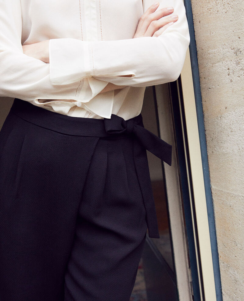 Pantalon de type sarouel avec nœud Noir Inoise
