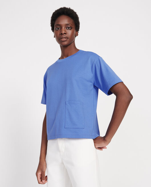T-Shirt boxy en coton mercerisé PERSIAN JEWEL