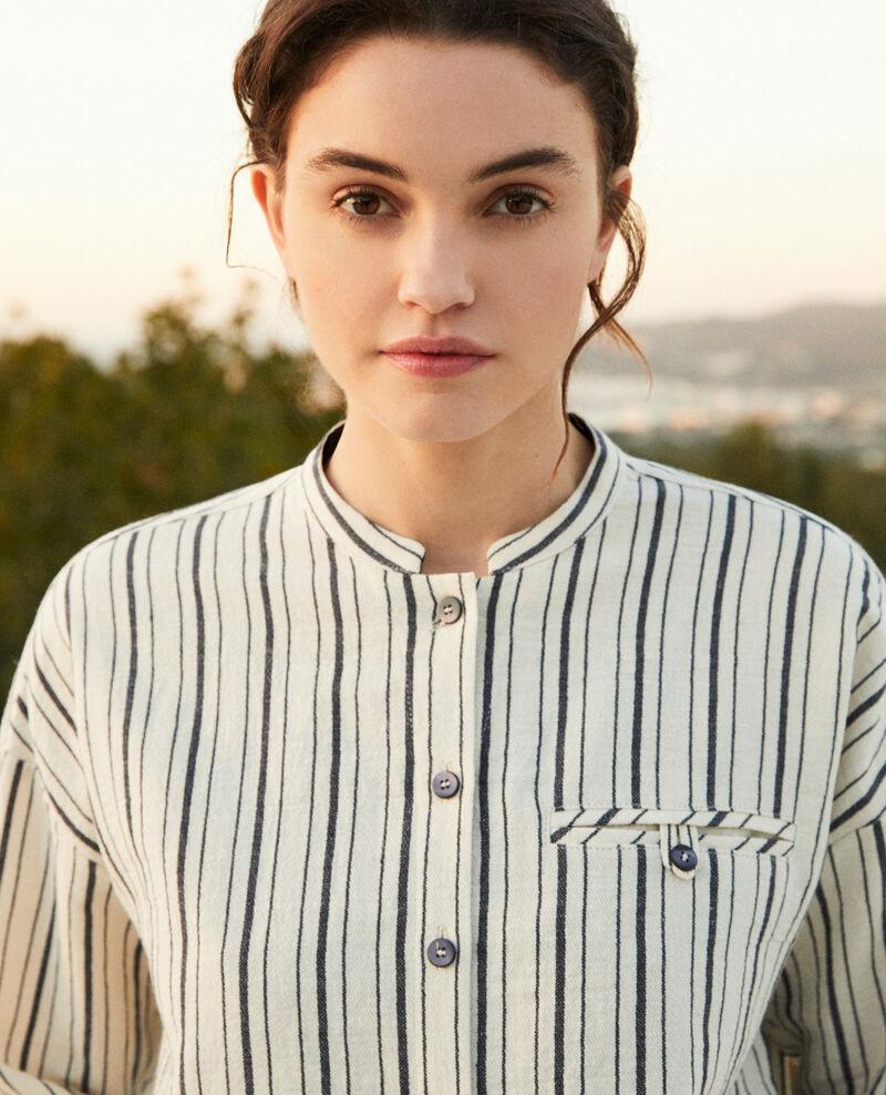 Chemise rayée Off white/navy stripes Francine