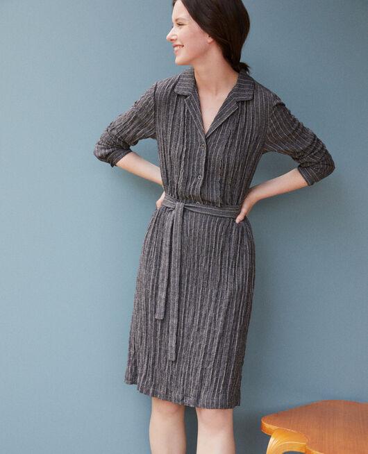 Robe chemise PEACOAT/CLOUD DANCER