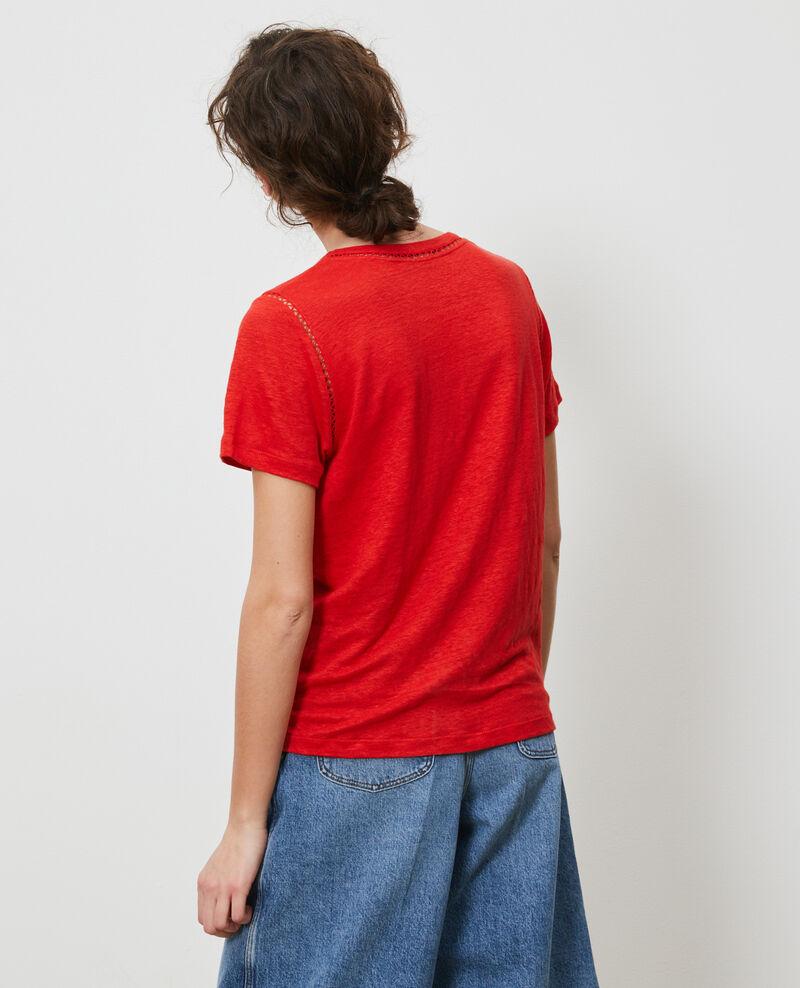 T-shirt en lin Fiery red Lye