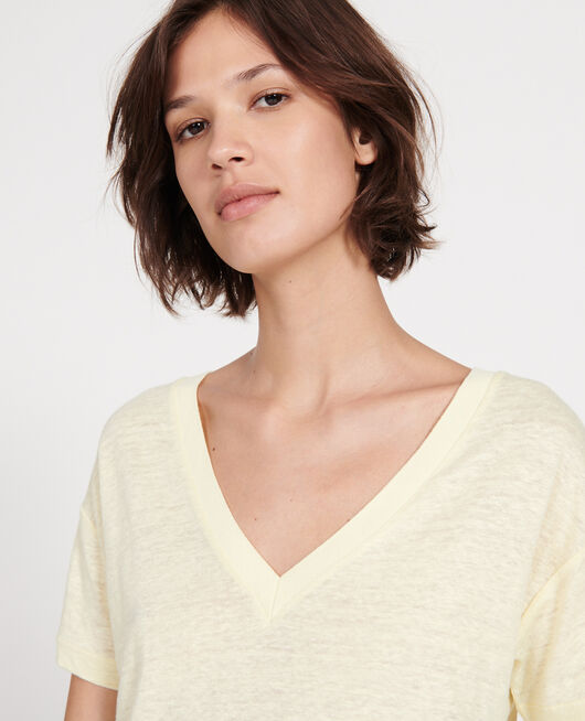 T-shirts en lin jersey TENDER YELLOW