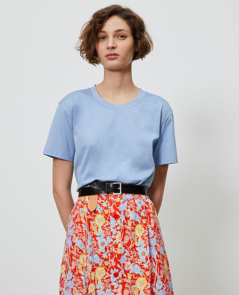 T-shirt coton col rond Blue heron Lirous