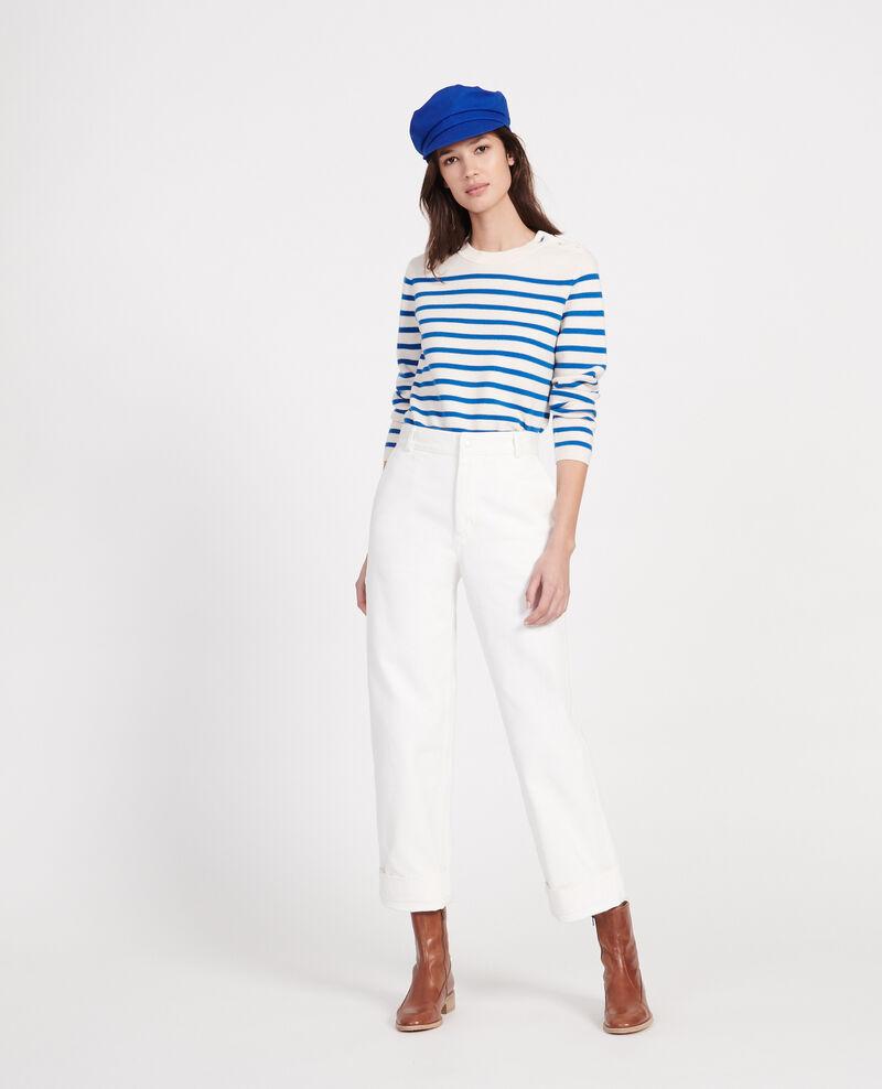 Pantalon de peintre Optical white Laora