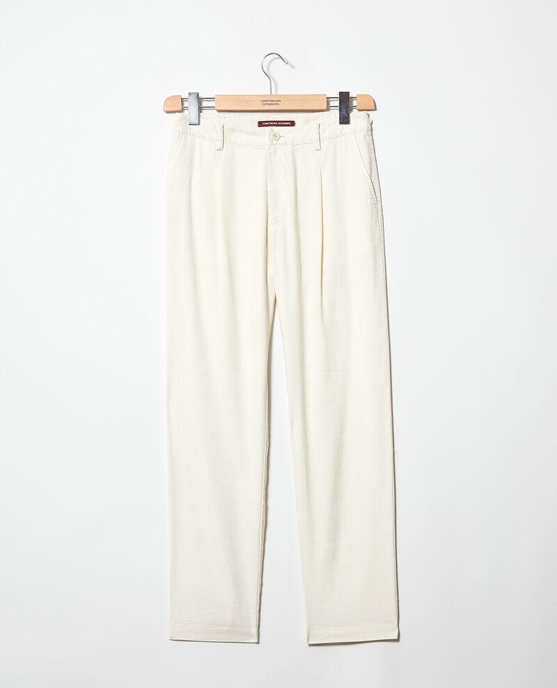 Pantalon coupe carotte Off white Imande