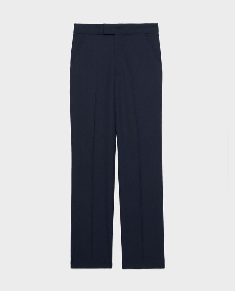 Pantalon droit en laine sèche Dark navy Lisabelle