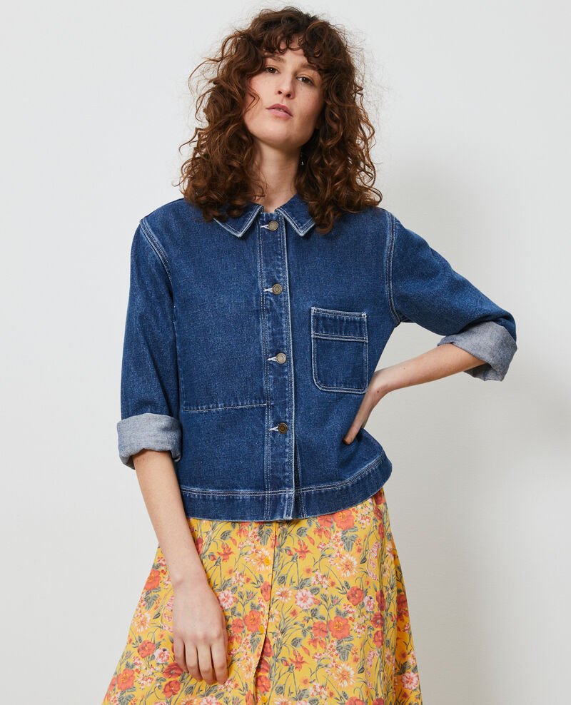Veste courte en denim Denim vintage wash Lalon