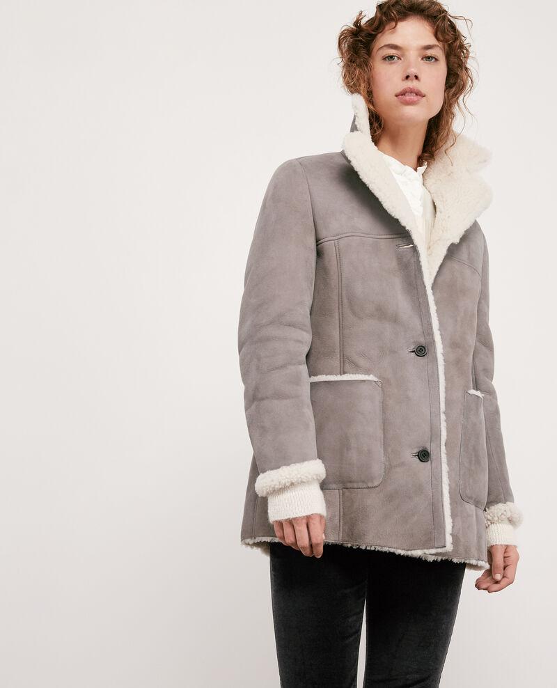 Manteau en peau lainée Light grey Dolotto