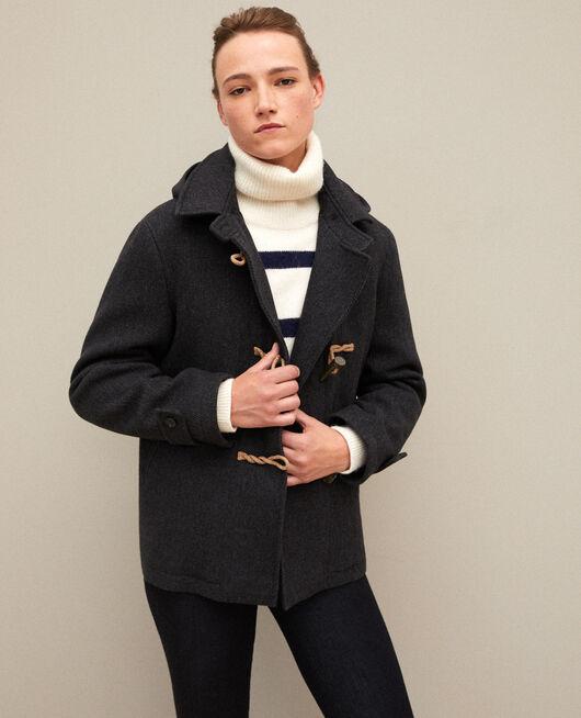 Manteau court de style duffle-coat DARK HEATHER GREY