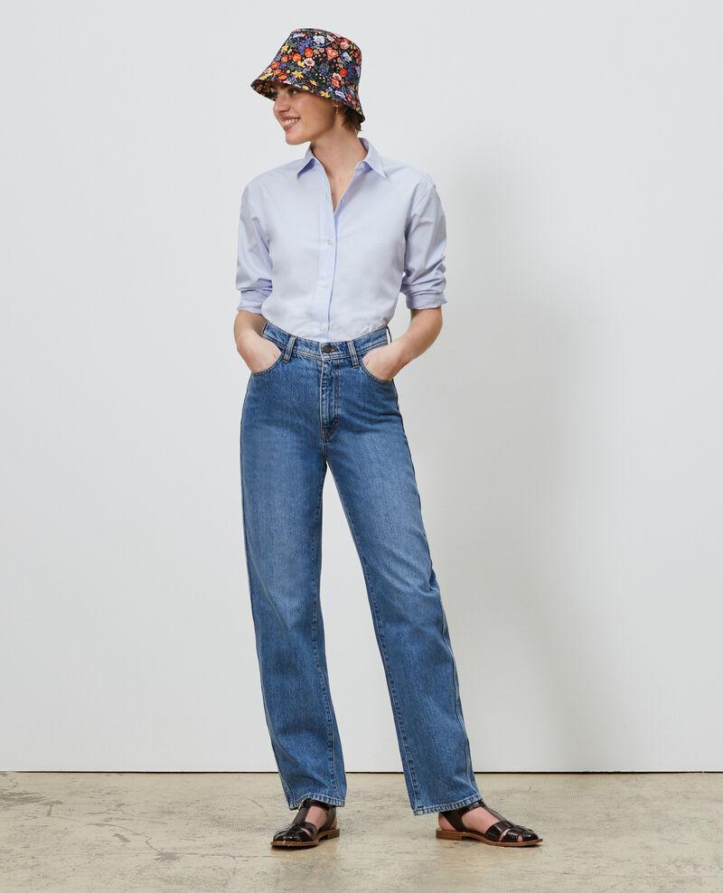 REGULAR - Jean délavé taille haute 5 poches Light denim Merleac