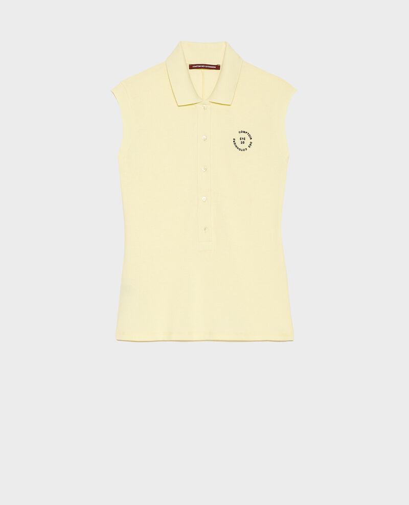 Polo en piqué de coton Tender yellow Laurac