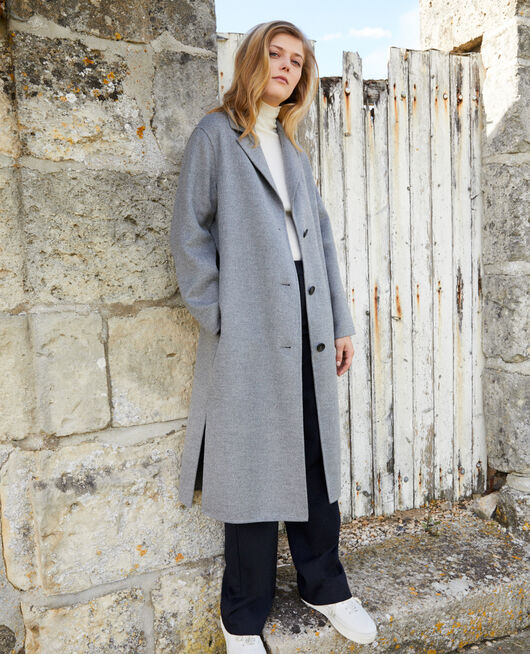 Manteau intemporel double face MIDDLE GREY