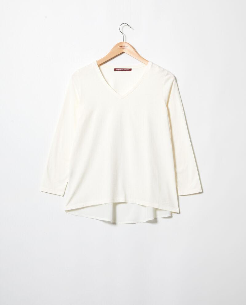 T-shirt bi-matière Off white Ioko