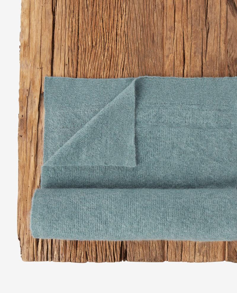 Echarpe avec mohair et laine Dark celadon Frileux
