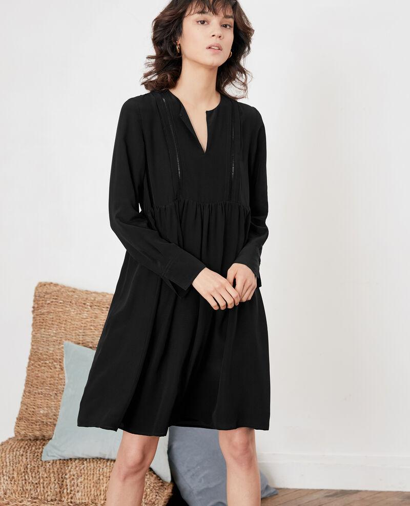 Robe En Soie Noir Fomme Comptoir Des Cotonniers