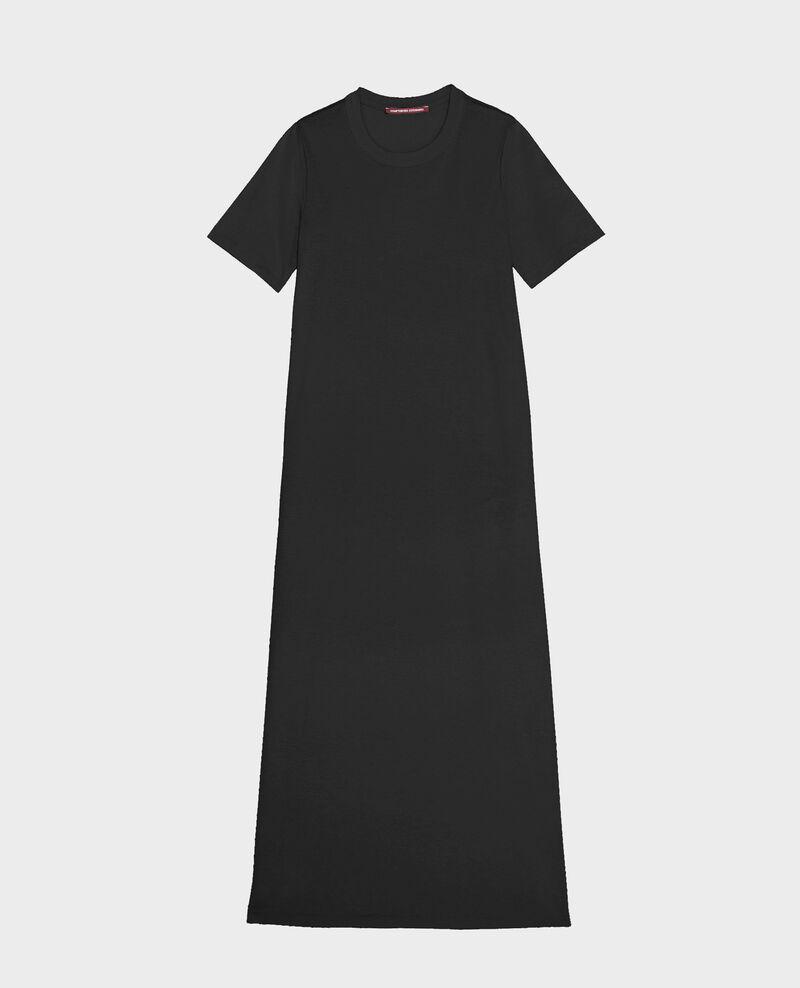 Robe longue en coton mercerisé Black beauty Larosata