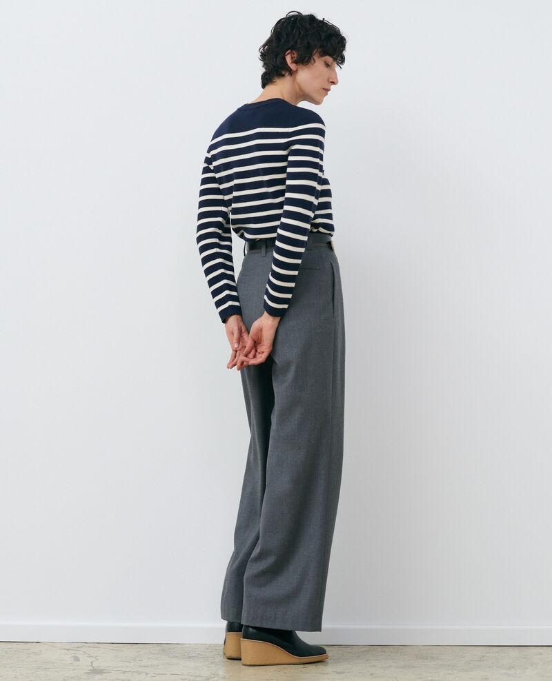 MADDY - Pull marin en laine Stp nv wht Liselle