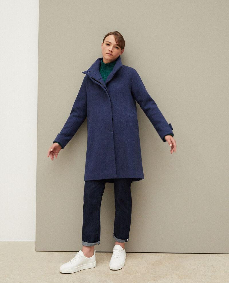 Manteau avec col montant Peacoat Goyave