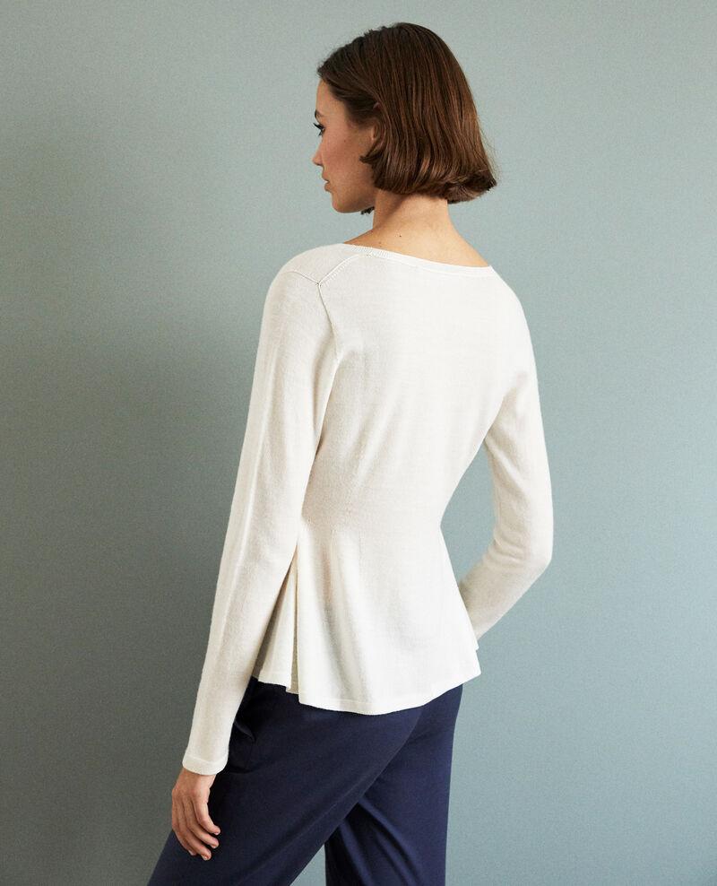 Pull en laine  Blanc Icarpan